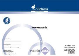D.Gépjármű 17/V Fuvarlevél A/4 50x3 példányos
