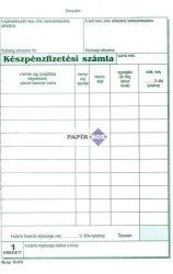 B.13-373/V Készpénzfizetési számlatömb A/5 álló 50x2 példányos - 1 Áfás