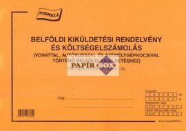 B.18-70/új Belföldi kiküldetési rendelvény és költségelszámolás A/4 25x2