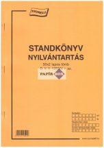 D.VV.1253/V Standkönyv nyilvántartás A/4 50x2 példányos