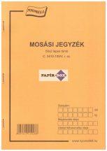 C.3410-109/V Mosási jegyzék 50x2 A/5