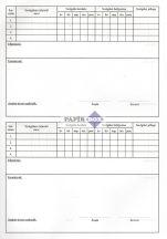 D.E. 903 Szolgálati napló (Őrnapló) A/4, 50 lapos